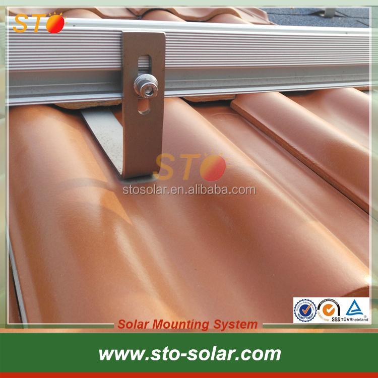 Tile Roof Solar PV Panel Mounting Structure