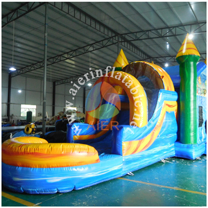 2018 Popular inflatable comercial water slide edge inflatable water slide