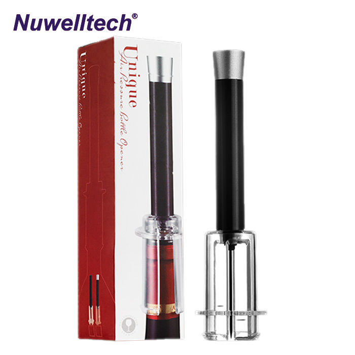 Nuwelltech air vacuum pump red wine opener with box wine bottle opener