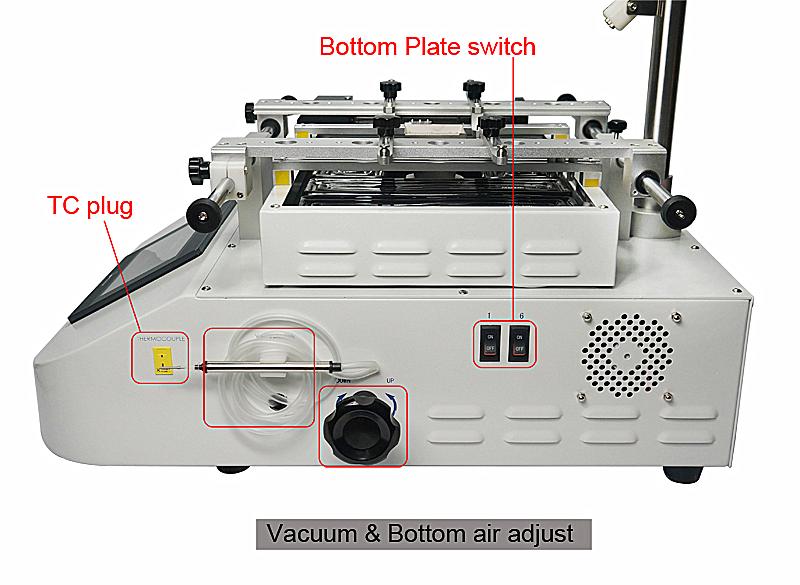 SP360C для мобильных телефонов, ноутбуков, игровых консолей BGA наладочная станция 3 зоны горячий воздух