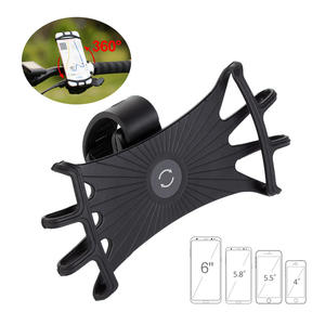 Bike mount universal bicycle phone holder 360 rotation bike phone mount for Motorcycle suitable for 4-6 inches smartphones