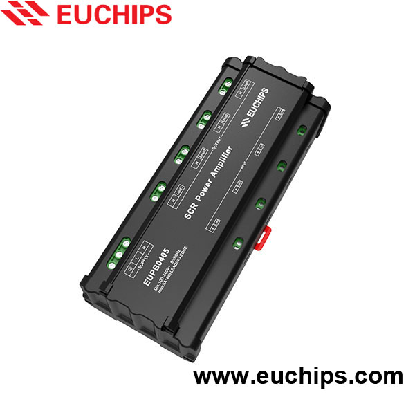 shanghai euchips new product 100-240VAC 5A 4 channel power amplifier