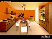 Modern Luxury Kitchen Cabinet Door With Black Glass