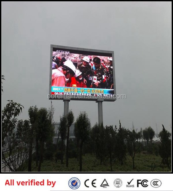 P16 outdoor full color led display monitor/video wall 3in1 outdoor p12 dip p10 full color led display