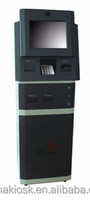 A15 payment touchscreen kiosk with bill validator, coin mechanism, card reader, metal EPP and thermal printer.