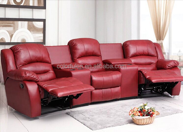 Home Theater Recliner Sofa Cinema Leather Chair Ls630