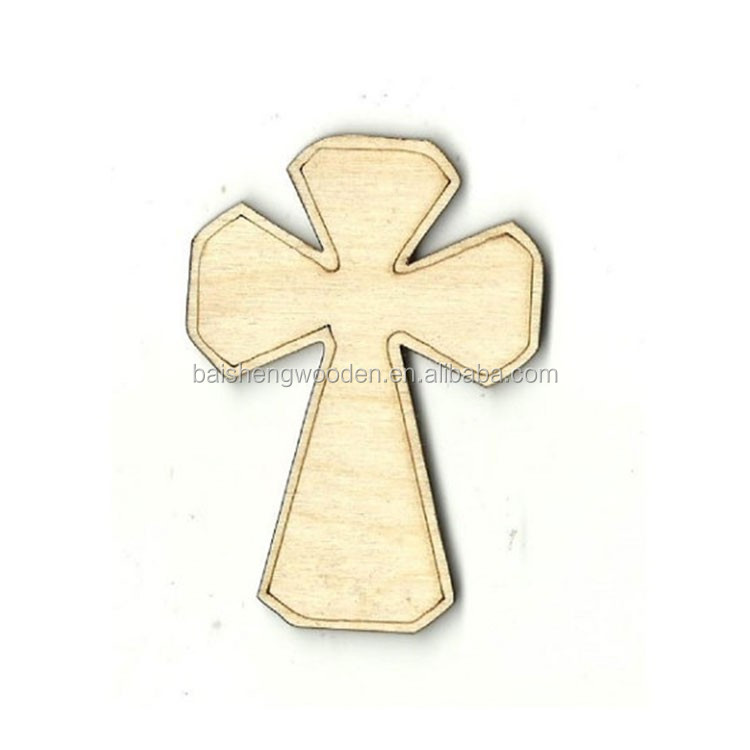 Cheap wood craft unfinished wood cross shaped laser cut for Cheap wooden crosses for crafts