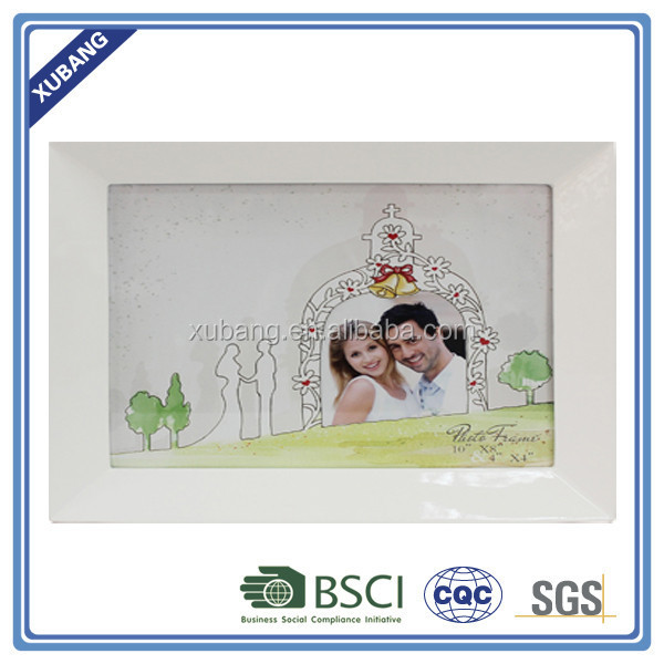 poly resin Sweet lovers Photo frame10x8'' wedding decoration