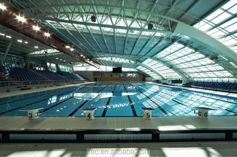 Economical space frame swimming pool cover