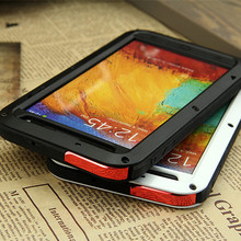 For Samsung Galaxy Note3 N9000 Original case Dirt Waterproof Love Mei Metal Aluminum Powerful Phone Cases with Gorilla Glass