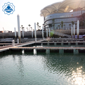 Floating bridge Stable galvanized steel frame floating pontoon platform use in marina dock