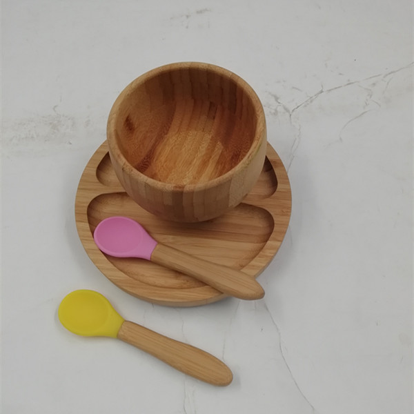 Bamboo Baby Suction Bowl With Head For Kids And Toddlers 3