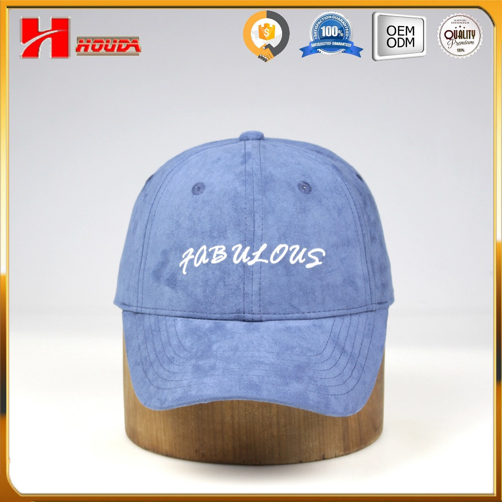 cap manufacture wholesale embroidered suede baseball cap custom