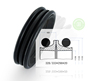 333*298*20 excavator hydraulic rubber floating seal group
