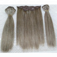 Wholesale High Quality Black and Blonde Blended Color 6/60 Clip in Hair Extensions Brazilian Weave