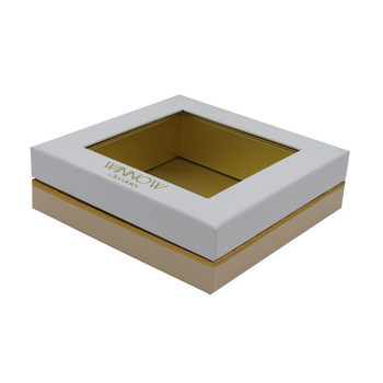 Kraft rigid gourmet window box macaron gift box