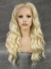 High Quality Halloween Wig Wavy Blonde Synthetic Lace Front Wigs for Sale Long Hair Sex Woman Wig