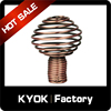 KYOK Foreign popular decoration curtain rod finials,layer ball shape aluminum alloy curtain accessories,curtain finials factory