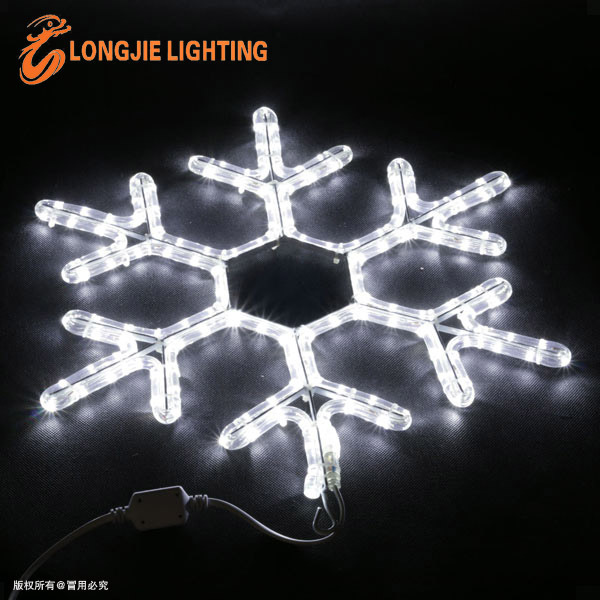 Led Snowflake Lights Flashing Color Changing Rope Light Christmas ...