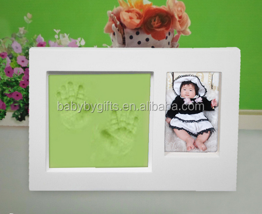 impression frame 3d babyprint keepsake baby handprint footprint kit