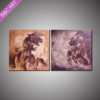 Home Decor Items Wholesale Price Handpainted Horse Oil Canvas African Art Paintings