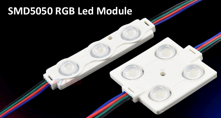 Multi color rgb 5050 smd 3 led module from Adled light limited
