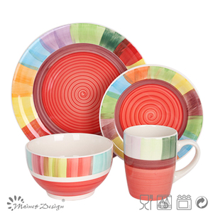 colorful canister dinner set