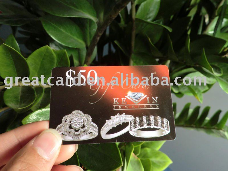 PVC Value Gift Card For Jewelers