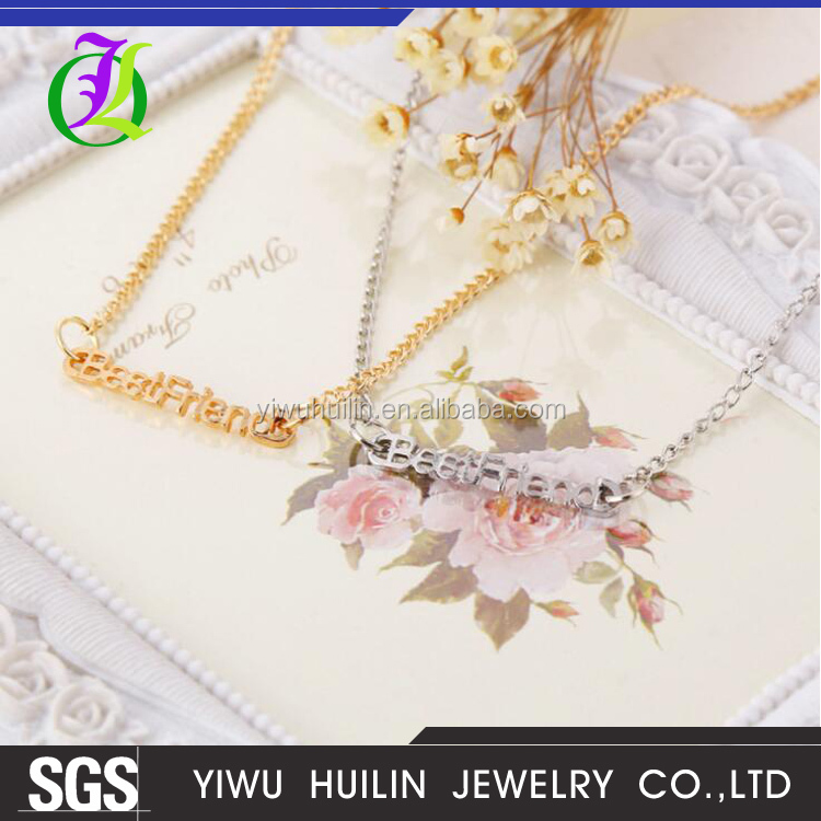 JTN 039 Yiwu Huilin Jewelry New Arrival hot Best Friend female girlfriend bracelet with the necklace