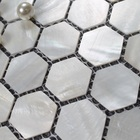 Shell Hexagon Mosaic Hexagon Fresh Water Popular Mother Of Pearl White Shell Mosaic