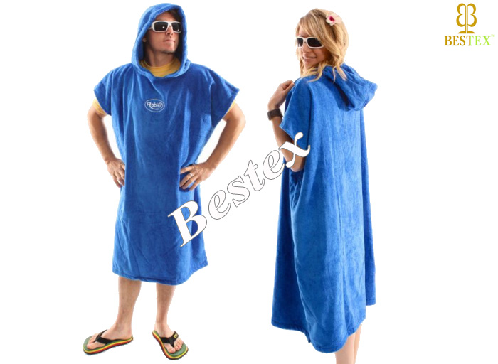 f3a55cd8d5 Sleeveless bathrobe Adult Surf Beach towelling Women hooded poncho ...
