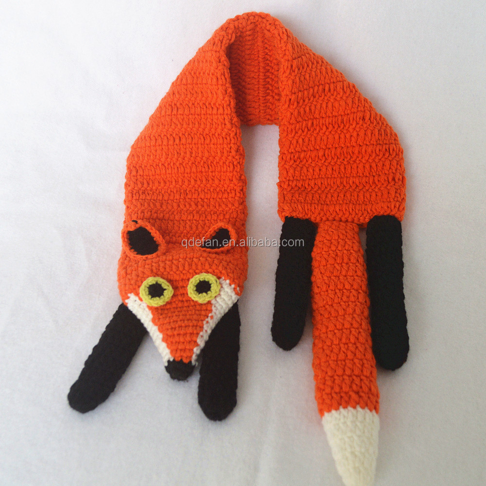 Cute Handmade Crochet Baby Scarf Knitted Baby Neck Scarf Crochet Fox Scarf Buy Crochet Baby