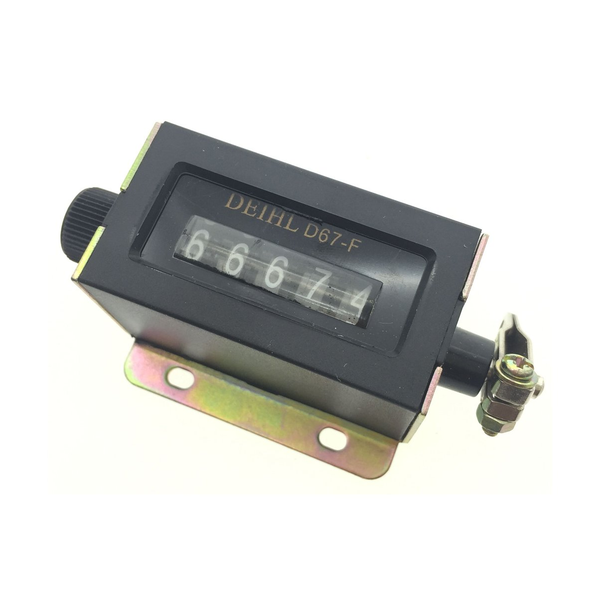 YXQ D67-F 5 Digits Resettable Mechanical Pulling Pull Counter