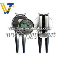 Magnetic Golf Pitch Mark Repairer with Customized Logo