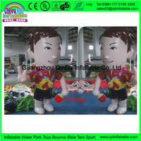 Guangzhou factory supplies good quality chinese plastic inflatable boy cartoons toy, inflatable cartoon character toy for kids