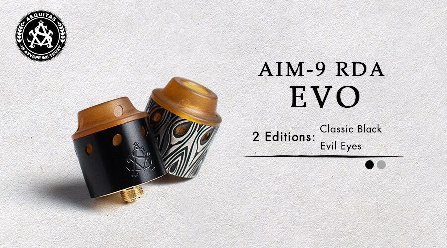 Revolving airflow Asvape AIM-9 EVO RDA In Stock