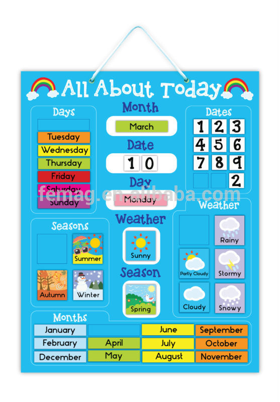 Kids Learning Calendar : E hot brand new for kids baby and child calendar