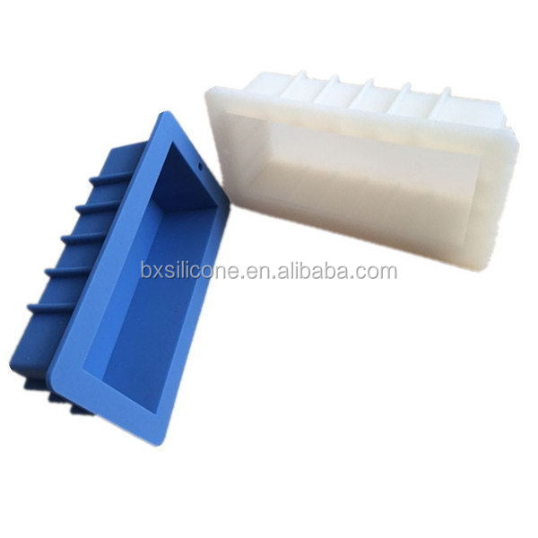 Super quality new arrival handmade silicone loaf soap mold