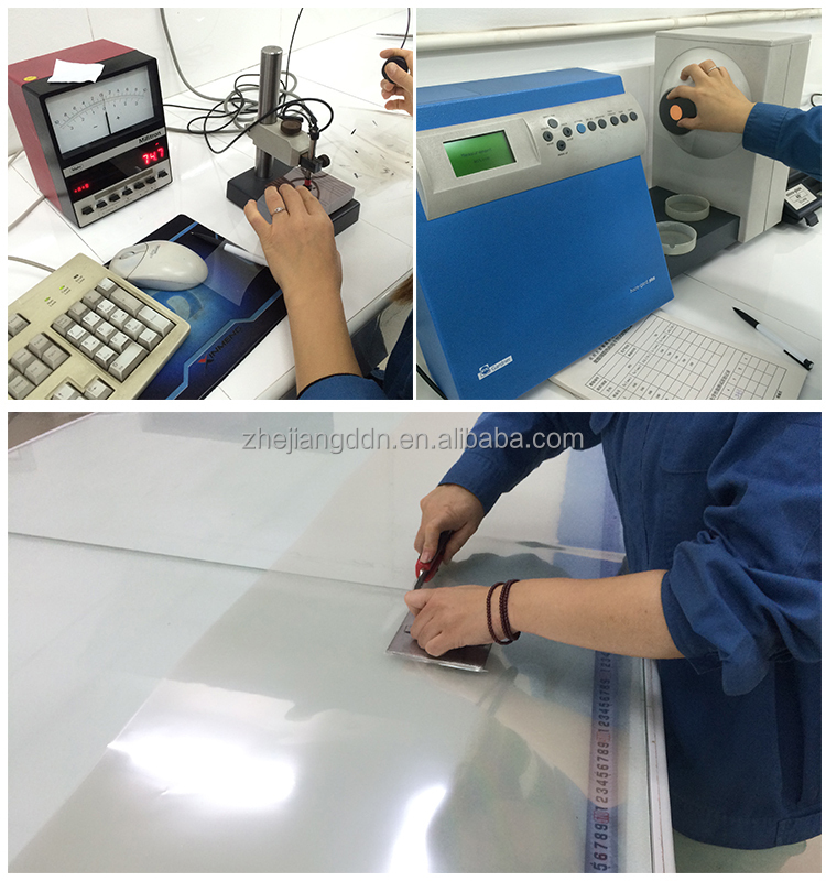 Transparent PET stretch film for lamination and hot stamping foil