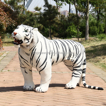 Giant Realistic Plush Tiger Lifesize Standing White Stuffed Toy