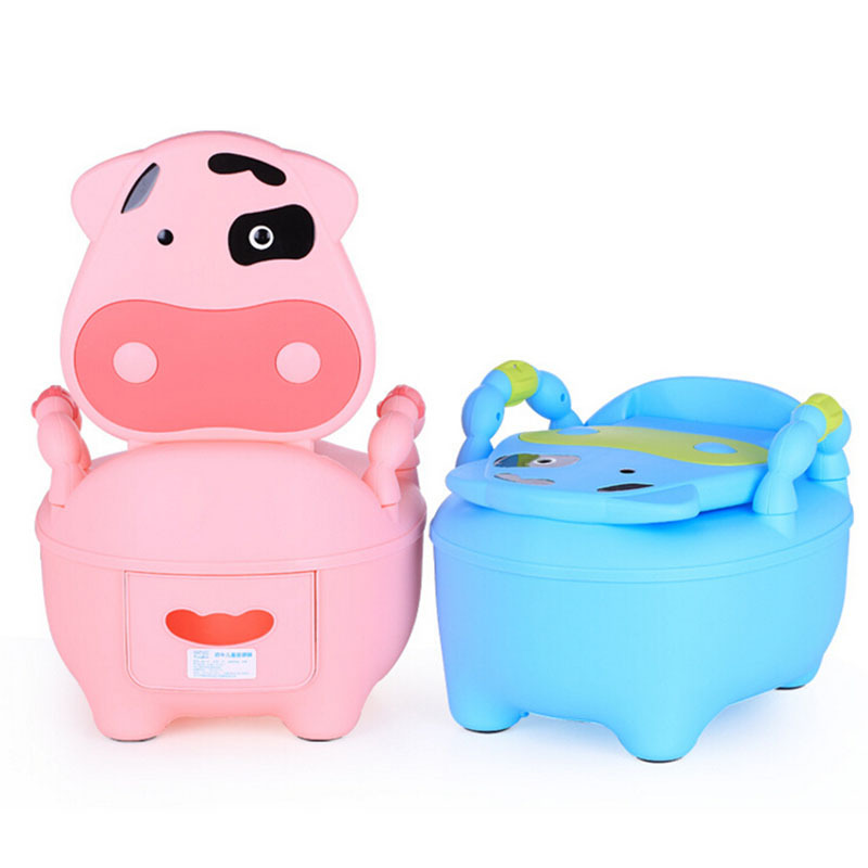 Kawaii Animal Cow Baby Potty Toilet Seat Urinal Girls Cute Plastic Child Potty Seat Training Kids Toddler Urinal Baby Product