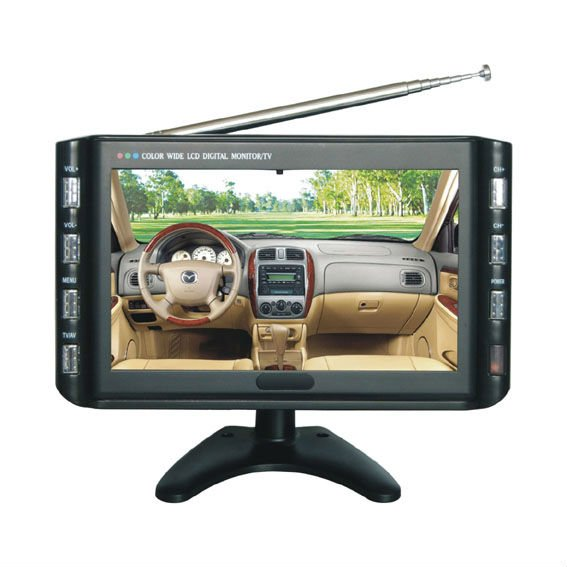 9 inch motorized car monitor for bus, coach