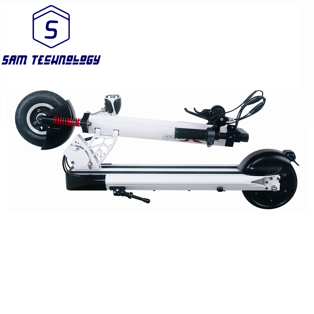 2017 New Fashion 350 watt Rear Hub Brushless Motor 10.4ah 15.4ah 18.4ah Foldable Electric Adult Kick Mobility Scooter