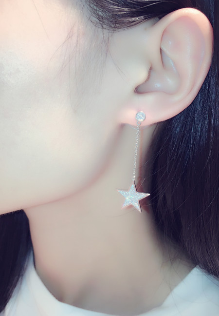 MYLOVE E1616 S925 sparkling zircon star earring fine jewelry