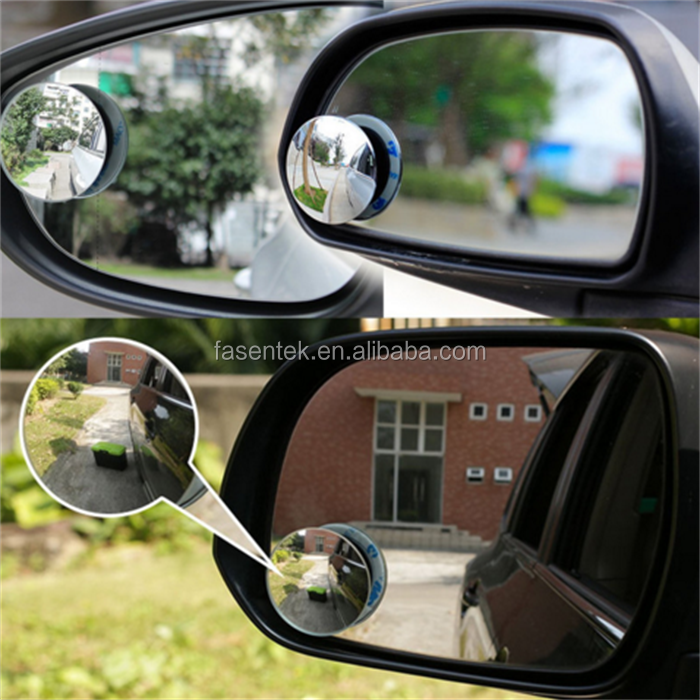 New 360 Degree Car mirror Wide Angle Round Convex Blind Spot mirror for parking Rear view mirror Rain Shade