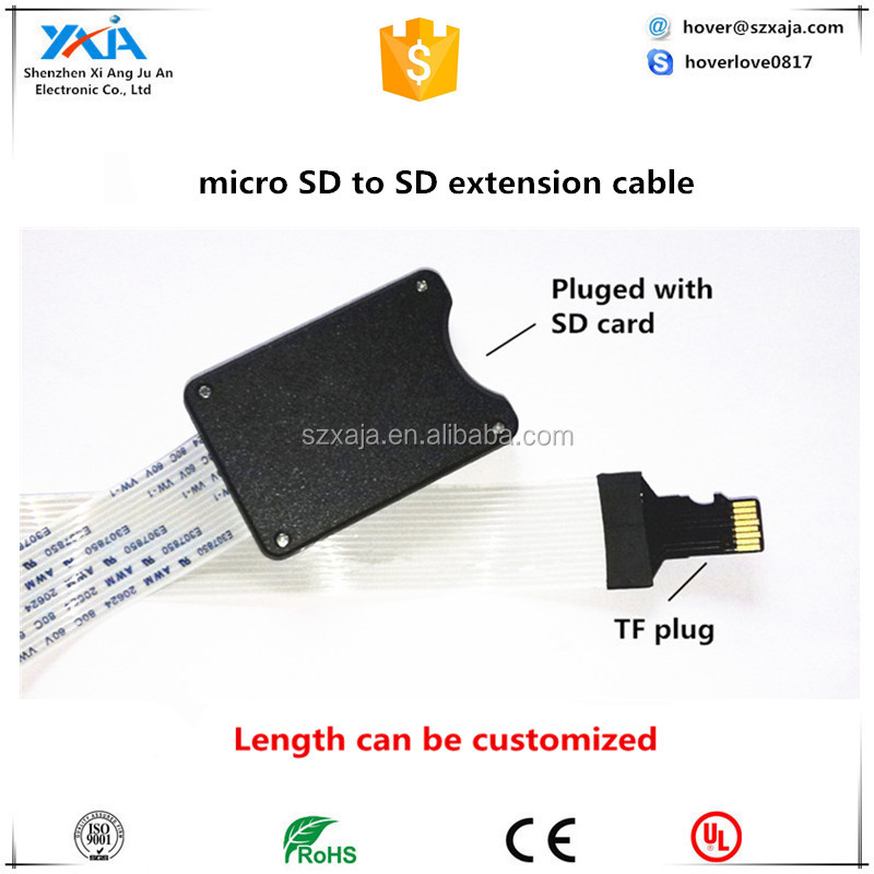 Bulk order 10x SD SDHC Memory Card to Micro SD TF Connector Linker Extension Cable