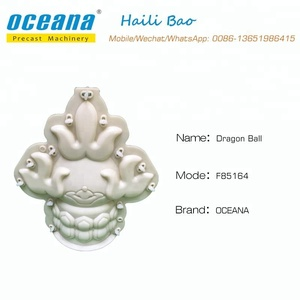 Dragon Ball Shape cement concrete Plastic mold for household decoration