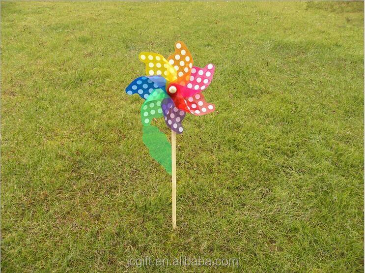 Taizhou pl stico color pinwheels jard n viento spinner for Molinos de viento para jardin