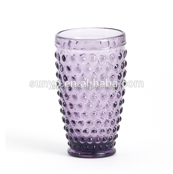 Wholesale High Quality Crystal Colored Honeycomb Water Drinking Glass