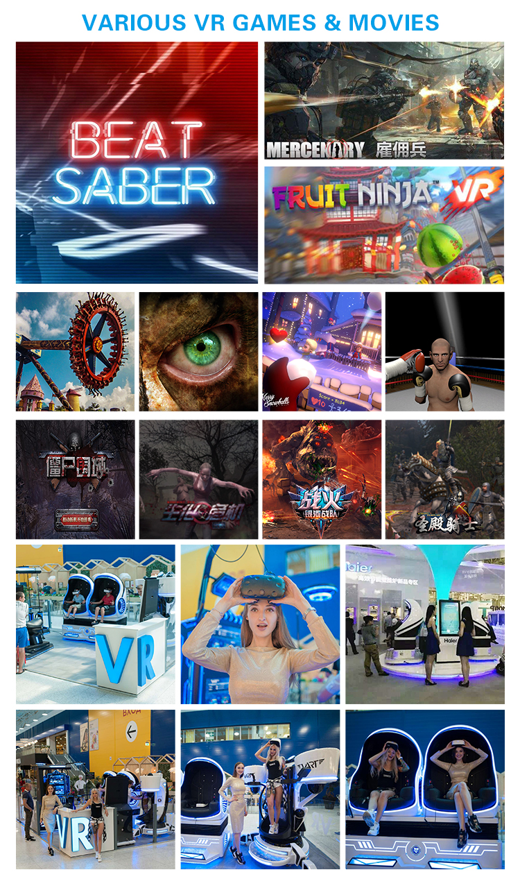 أفلام جديدة وصول VR معدات رخيصة لعبة الواقع الافتراضي بارك 9D محاكاة للسينما